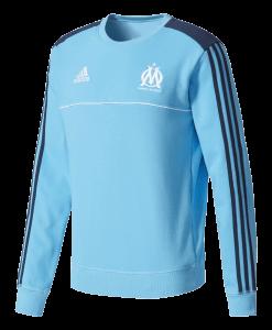 adidas Olympique Marseille Sweat Trainingspak 2017-2018 Trui schuin vooraanzicht