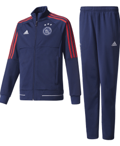 adidas Ajax Trainingspak 2017-2018 Kids Dark Blue Bold Red