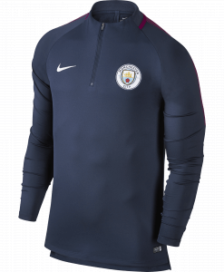 Nike Manchester City Dry Squad Drill Trainingstrui 2017-2018 Midnight Navy