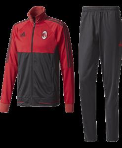 Bestel nu het adidas AC Milan Trainingspak 2017-2018 Victory Red Black van il Rossoneri.Jouw liefde voor 'il Rossoneri' is 100%. Laat dat zien met dit voetbaltrainingspak voor heren. Zowel het rood-zwarte ritsjack als de bijpassende zwarte trainingsbroek is geïnspireerd op de thuiskleuren van de club. Beide items hebben een reguliere pasvorm en pronken met een geweven clubembleem.